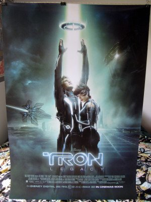 Tron Legacy repro movie POSTER 23.5 x 34 Disney sequel (poster sent FROM USA in PVC pipe)