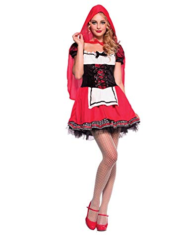 Womens Darling Miss Red Costume Little Red Ridding Hood Large (12-14)