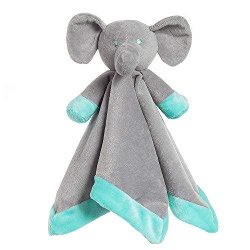 (Apricot Lamb Luxury Snuggle Plush Grey Elephant Infant Stuffed Animals Security Blanket (Grey Elephant, 14 Inches))