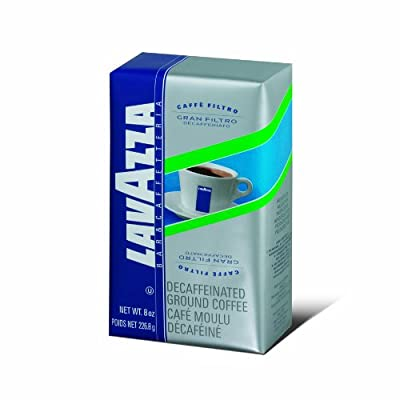 Lavazza Gran Filtro Decaffeinato Ground Coffee Blend, Decaffeinated Medium Roast, 8-Ounce Bag