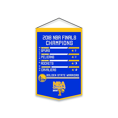 Winning Streak Golden State Warriors 2018 NBA Champions Printed 'Road to Champs' Banner ()