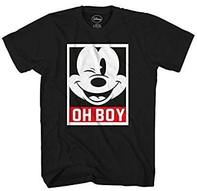 Disney Mickey Mouse Frame Face Disneyland World Funny Humor Pun Mens Adult Graphic Tee T-Shirt