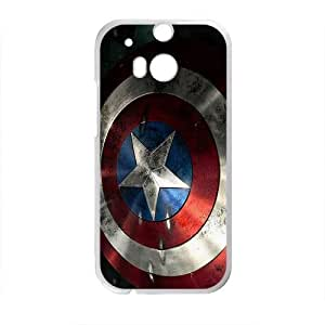 Captain America Shield Brand New And High Quality Custom Hard Case Cover Protector For HTC M8