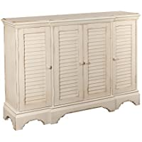Powell Furniture 16A8262W Savannah White Shutter Console Table, Small