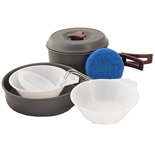 Emergency Zone Lightweight Anodized Aluminum Outdoor Mess Kit