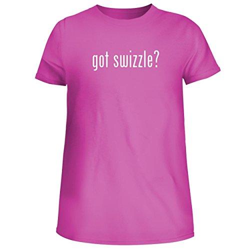 BH Cool Designs got Swizzle? - Cute Women's Junior Graphic Tee, Fuchsia, Medium