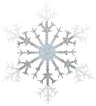 Phenomenal Amazon Com 17 Jumbo Acrylic Glitter Snowflake Ornament Easy Diy Christmas Decorations Tissureus