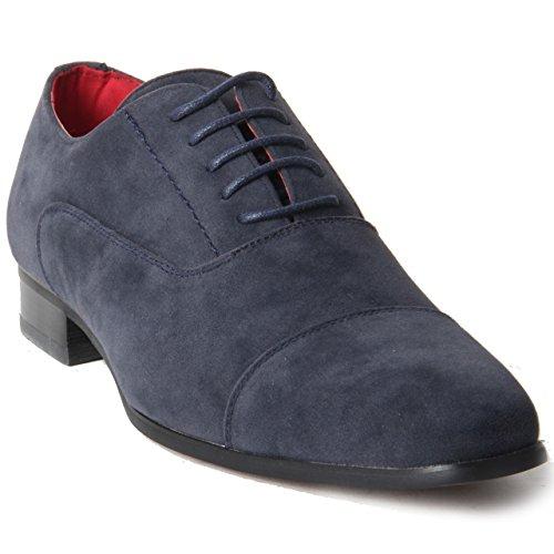 In cappuccio pelle con Blue gangster Da allacciate con scarpe uomo vera foderato Suede Rossellini Spettatore fUTYaqY