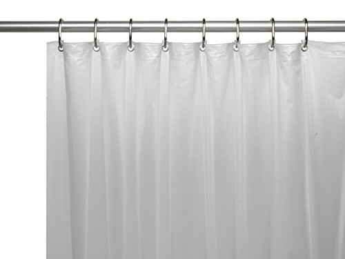 Park Avenue Deluxe Fro Collection Extra Long (70'' x 84'') Mildew-Resistant, 10 Gauge Vinyl Shower Curtain Liner w/Metal Grommets and Reinforced Mesh Header in Frosty Clear ()