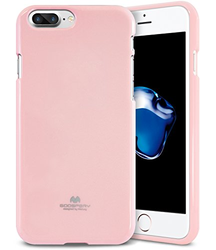 iPhone 8 Plus & 7 Plus Case, [Thin Slim] MERCURY [Flexible] Pearl Glitter Jelly [Perfect Fit] TPU Case [Lightweight] Bumper Cover [Anti-Discoloring Finish] for Apple iPhone 8 Plus / 7 Plus, Baby Pink