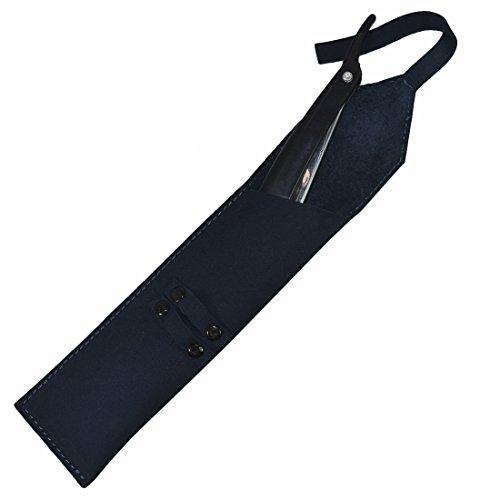 Rustic Leather Straight Razor Case Handmade by Hide & Drink :: Blue (Gold Venus Case)