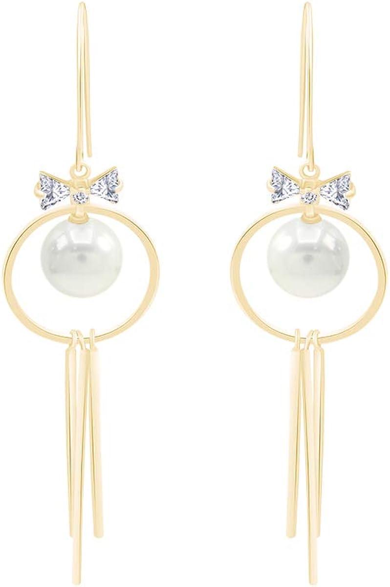 925 Sterling Silver Triple Vertical Bar Geometric Simulated Pearl Drop Dangle Stud Earrings