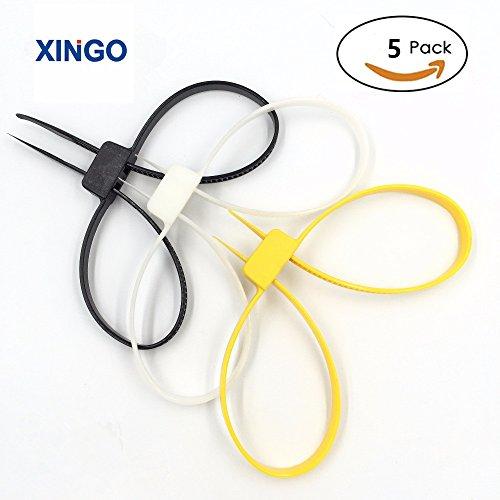Xingo Double Flex Plastic Handcuff Disposable Restraints(5Piece/Bag (3mm Cuff)