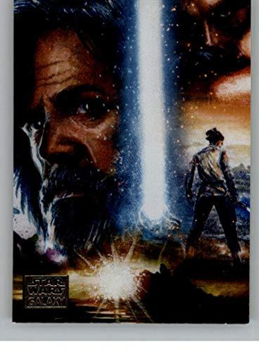 2018 Topps Star Wars Galaxy Legends Non Sport Trading Card #C-1 Luke Skywalker Official Collectible Entertainment Card