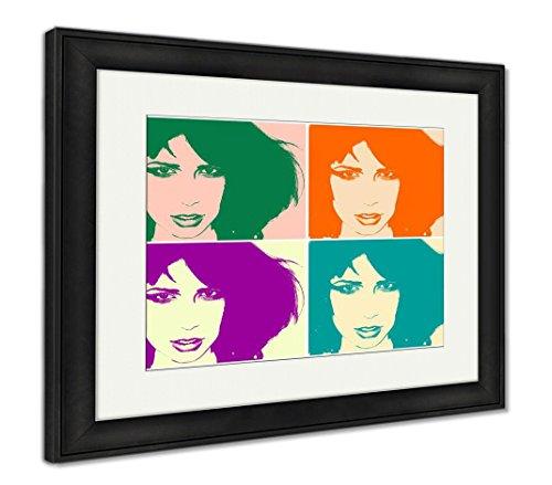 Ashley Framed Prints Pop Art Portrait, Wall Art Home Decoration, Color, 26x30 (Frame Size), Black Frame, AG5815465