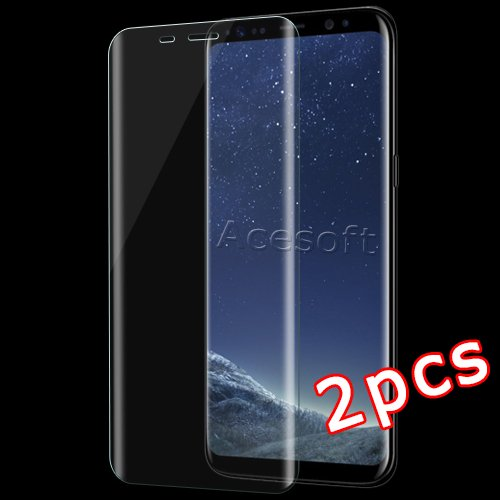 super popular 76713 71559 Amazon.com: [Galaxy S8 Screen Protector] 2 Pack Full Coverage Curved ...