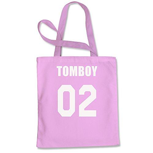Tote Bag Tomboy 02 Pink Shopping Bag