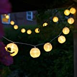 Uping battery operated LED Fairy Lights 2 Mode String light 20 Lampion Lantern 4.2M Warm White for Indoor Outdoor Party Garden Christmas Halloween Wedding Home Bedroom Yard Deck Decora