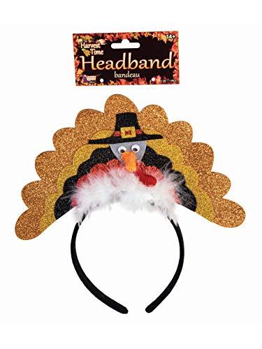 (Forum Novelties 78895 Funny Thanksgiving Turkey Headband with Glitter Party Supplies,)