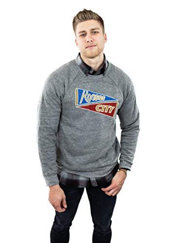 LandLocked Sporting Kansas City Chiefs, KC Baseball Sweatshirt, Soft - Hybrid Pennant ()