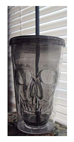 Cool Gear Halloween Tumblers (Cool Gear 18 Oz Chiller - Halloween Black Skull Reusable Double Wall Travel)