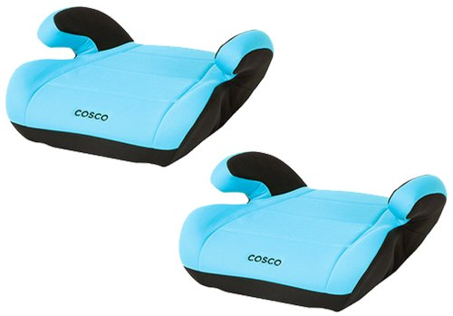 Cosco Juvenile Top Side Booster Seat, Twin Pack, Turquoise