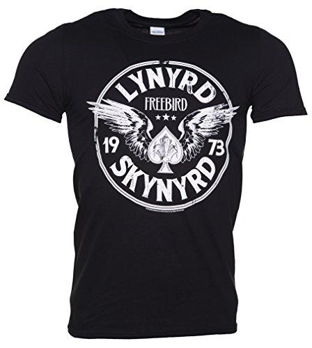 Mens Black Lynyrd Skynyrd Freebird 73 Wings T Shirt