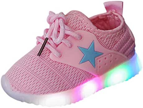 Light Sneakers Haalife◕‿ Baby Girls boy Casual Light Weight Breathable lace up Sneakers Running Shoe