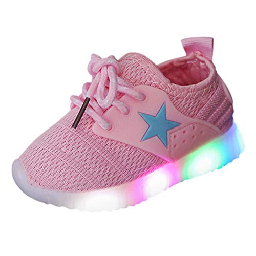 Light Sneakers Haalife◕‿ Baby Girls boy Casual Light Weight Breathable lace up Sneakers Running Shoe ()