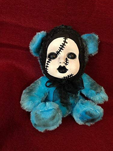 OOAK Sad Stitches Teddy Bear Creepy Horror Doll Art Christie Creepydolls from Christie Creepy Dolls