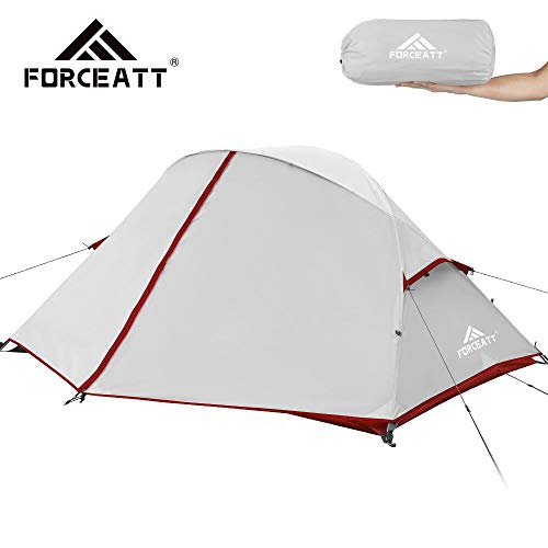 Forceatt Zelt für 2 und 3 Personen in 4 Jahreszeiten | Ultraleicht für Camping, Rucksackreisen, Wandern und andere…