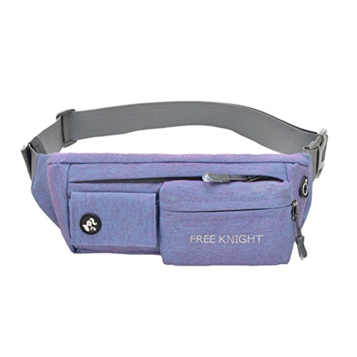 InKach Waist Pack Bags - Unisex Nylon Fanny Packs Belly Waist Hip Packs Shoulder Chest Bag Bumbag