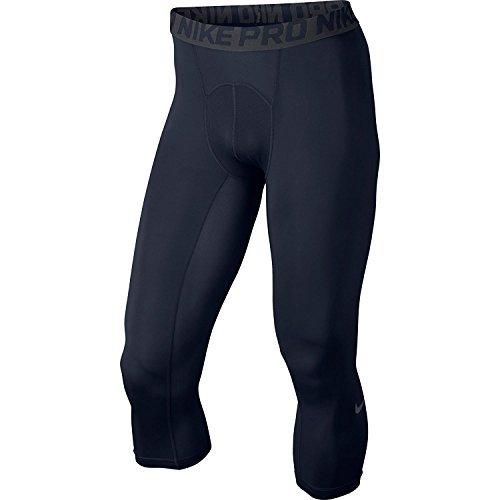 Nike Mens Pro-Cool 3/4 Compression Tights Obsidian/Dark Grey/White 703082-451 Size Medium