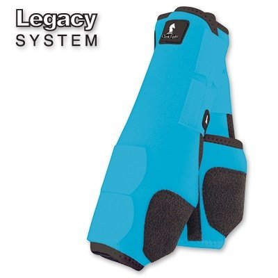 CLASSIC EQUINE LEGACY SMB BOOTS - FRONT - ALL SIZES & COLORS (Turquoise, Small)