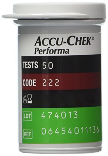 50 Test Strips Accu Chek Performa Accuchek Nano Diabetic Glucose Sealed Box New