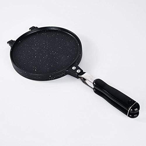 N / A PoêLe à Omelette Casseroles à Induction,Machine croustillante Ronde de ménage de Moule de gâteau d'alliage d'aluminium, Outil de Cuisson Double Face de gaz