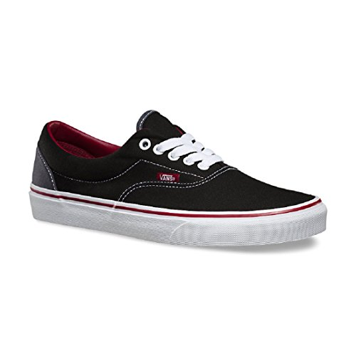Vans VEWZNVY Unisex Era Canvas Skate Shoes (Pop) Black/Rhubarb uToAYm2E
