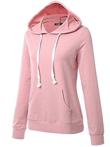JayJay Women Basic Lightweight Pullover Hoodie Sweatshirt with Kangaroo Pocket