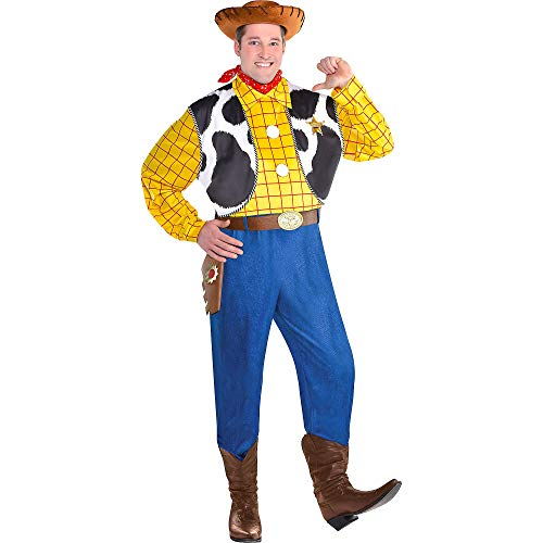 Party City Woody Halloween Costume for Men, Toy Story 4, Plus Size, with (Male Halloween Costumes Party City)