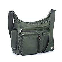 Lug Double Dutch Cross Body Bag, Olive Green, One Size