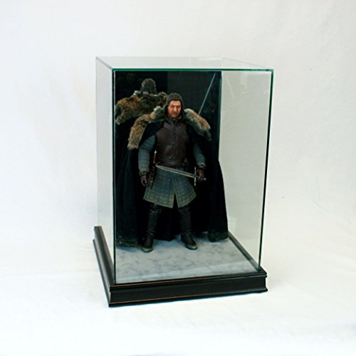 1/6th Scale Figurine Display Case - Comic Figurine - Crystal Clear Glass Protection - Black (1/6 Scale Statue)