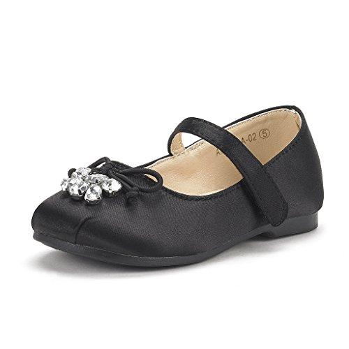 DREAM PAIRS Little Kid Aurora-02 Black Girl's Mary Jane Ballerina Flat Shoes Size 2 M US Little Kid