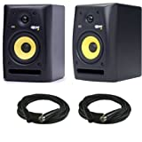 KRK Rokit RP5 G2 Powered Desktop Studio Monitors Pair w/ XLR Cables