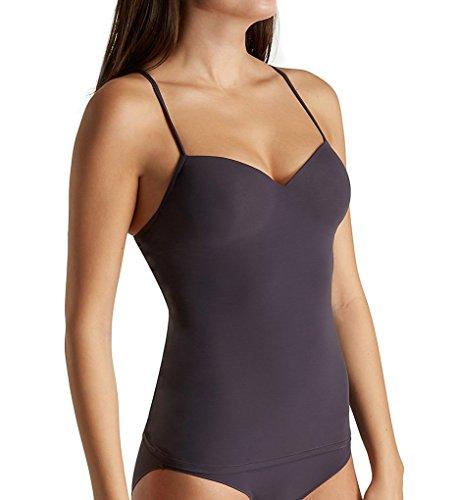 Hanro Women's Allure Bra Camisole, Carbon, 34A (Stretch Underwire Camisole)