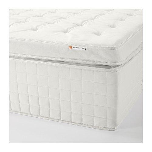 IKEA HOLMSBU Spring mattress, medium firm, white, King size 1428.22314.186