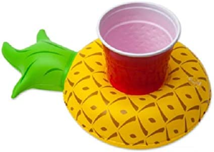 Inflatable Pineapple Floating Drink Can Cup Holder Bath Toys