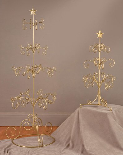 27 H Tree Display Stand Gold