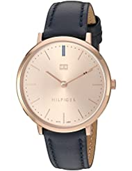 Tommy Hilfiger Womens Sophisticated Sport Quartz Gold and Leather Watch, Color:Blue (Model: 1781693)