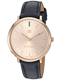 Tommy Hilfiger Women's 'Sophisticated Sport' Quartz Gold and Leather Automatic Watch, Color: Blue (Model: 1781693)