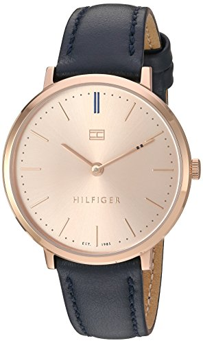 Tommy Hilfiger Women's 'Sophisticated Sport' Quartz Gold and Leather Watch, Color:Blue (Model: 1781693)
